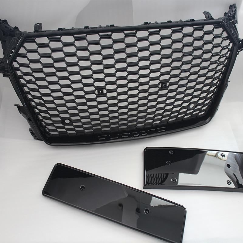 Tt ttrs quattro style abs noir de voiture pare-chocs avant grill grille pour audi tt mk3 typ 8 s 2016
