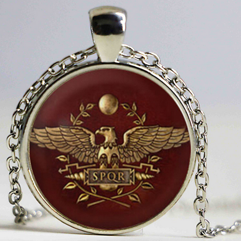 YAUTION Total War Rome Necklace Total War Rome Jewelry Glass Dome Pendant Necklace