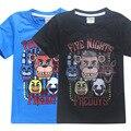 2017 Roupas de Verão Para Crianças Roupas das Meninas dos Meninos Dos Desenhos Animados Camisetas Cinco Noites No Freddy Camisa Dos Miúdos T 5 Freddys Tops 3-12Y