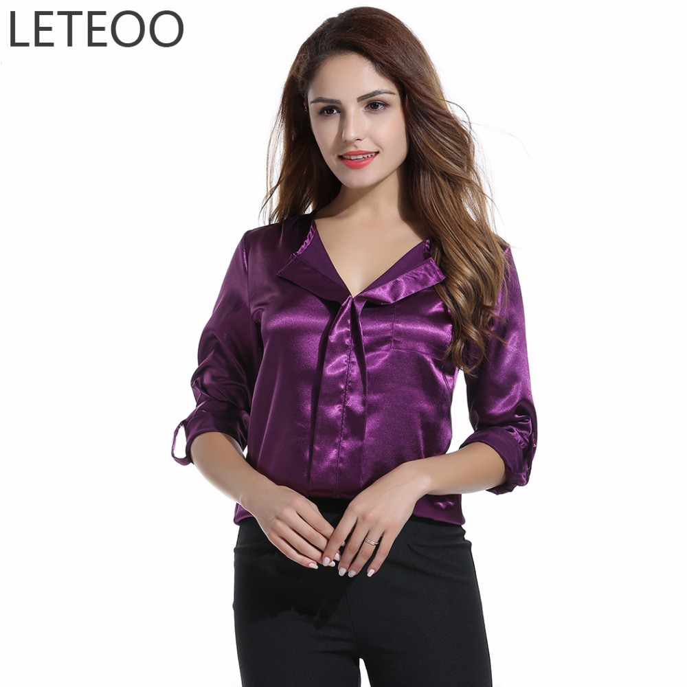 Popular Satin Blouse Woman-Buy Cheap Satin Blouse Woman lots from ...