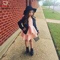 KAMIMI Новый Летний 1-5 Лет Девушки Одеваются Девочка Европа мягкий Платье Принцессы Детская Одежда Дети Партия Одежды Для Девочек A335
