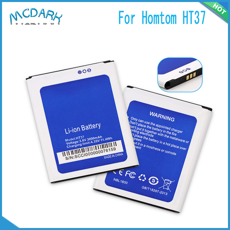 Mcdark 3000mAh Hight capacity for Homtom HT37 Battery For Homtom HT37 pro Cell Phone Replacement Batteries Rechargeable(China)