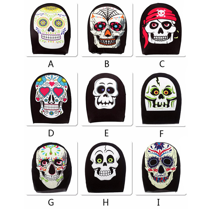 1 Full Face Halloween Fabric Skull Mask For Women Sexy Party Mask Scary Cosplay Headgear Masquerade Mask For Men Party Decorations