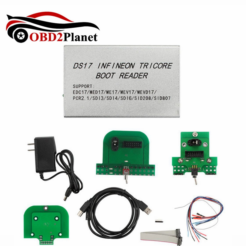 New Arrival DS17 Infineon For Tricore Boot Reader Support EDC17 And Tricore Instead of BDM100 Fast Shipping new version usbdm bdm support k60 m0 supports high speed freescale xs128