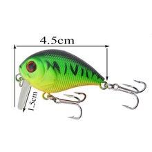 1Pcs wobblers Crank Bait 4.5cm 6.6g Fishing Lures Tackle Swim bait fishing japan Hard Crazy Bass Crankbait Fish Lure WD-424
