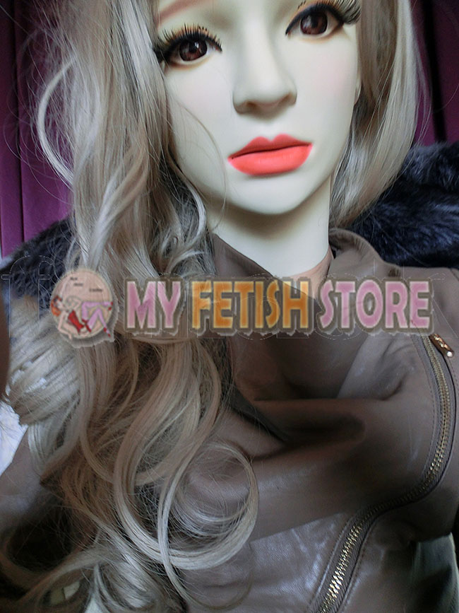 ( ) Quality Handmade Soft Silicone Realist Full Head Female/Girl Crossdress Sexy Doll Face Cosplay Mask With Wig