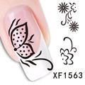 Xf1563-fashion Новый стиль вода 1 лист(ов) 3D дизайн DIY ногтей украшения ногтей ногтей наклейка наклейка-бесплатная ногтей инструменты