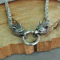 Lanseis, 1 шт., мужское крутое ожерелье, волк из нержавеющей стали, цепочка на голову, Викинг, мужское ожерелье, 6 мм x 50 см или 6 мм x 60 см