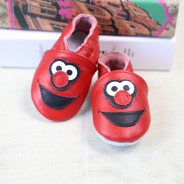 Baby red clown shoes + insole set girl boy cute clown print Leather Shoes  with insole Soft Sole First Walker 0-2T 68styles 1efb3c38846a