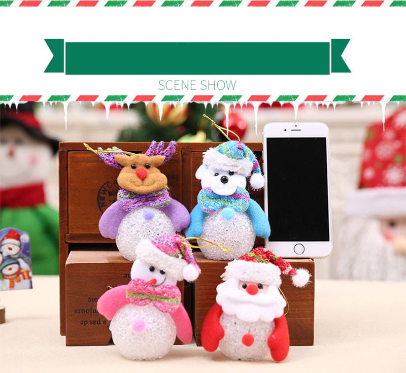 New Year Christmas Decoration for Home accessories Glowing EVA Snowman Nightlight Snowman Christmas Tree gifts Navidad Natal (18)