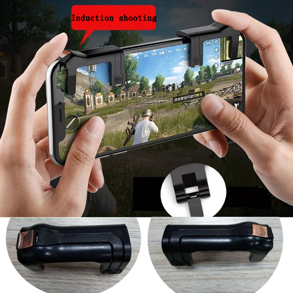 1 pair Smartphone Gaming Trigger for Knives out Rules of Survival Game Fire Button Handle L1R1 Shooter Controller 3.0 version