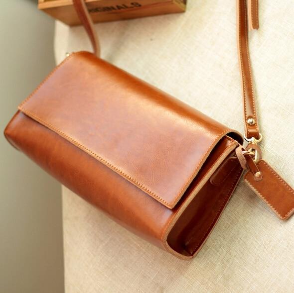 ФОТО Vintage 100% Guarantee Genuine Leather women messenger bags Small Casual Cowhide shoulder crossbody bag Fashion women bags 2016