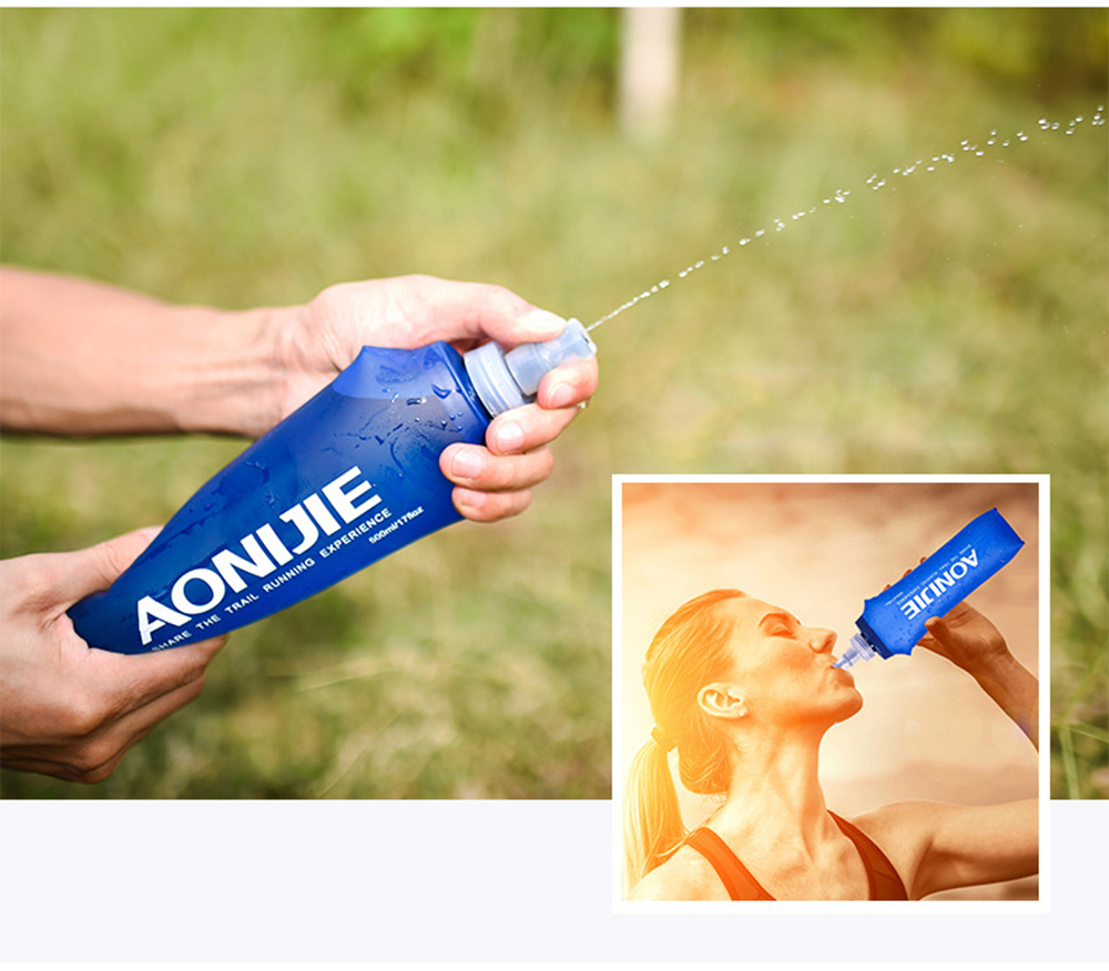 250/500ML Outdoor Camping Hiking Drinking Bottle Durable Portable Soft Flask Sports Cycling Running Water Bag