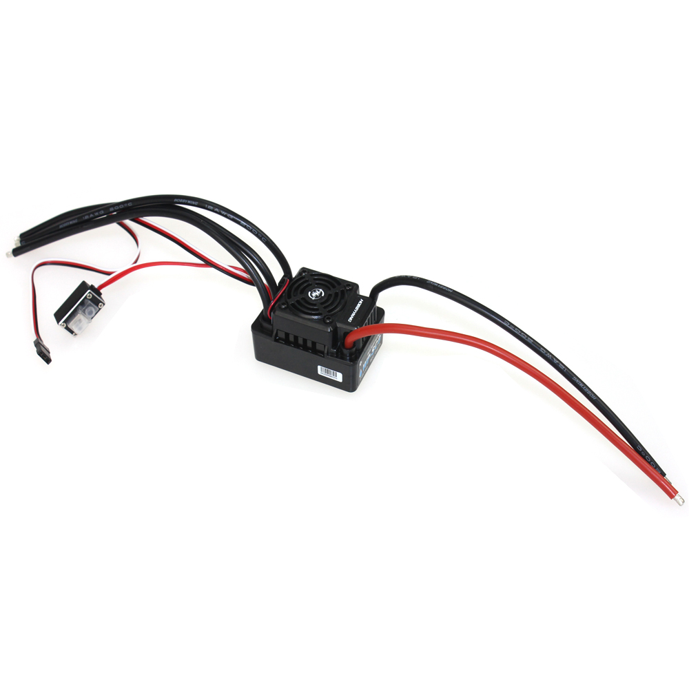 Hobbywing EZRUN WP SC8 120A Waterproof Speed Controller Brushless ESC for RC Car Crawler Truck XT60 Plug F17814 wp sc8 waterproof 120a brushless esc splash water proof dust ezrun wp sc8 esc 2 in 1 multi functional professional programming