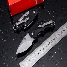 Горячий топ K3800 складной нож 7cr17mov лезвие стальная ручка волоконный Захват Открытый походный нож Охота Выживание тактический EDC ручной инструмент