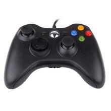 ใหม่ USB Wired Gamepad สำหรับ Xbox 360 ตัวควบคุมเกมการสั่นสะเทือนคู่จอยสติ๊กสำหรับ PC คอมพิวเตอร์ Controller สำหรับ Windows 7 8 10