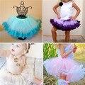 Nueva Princesa Niños de La Muchacha de Múltiples Capas de la Torta Del Partido de Tulle Vestido Corto de Baile Falda Del Tutú 2-8Y