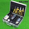 KELUSHI 26 En 1 Kit de Herramientas de Fibra Óptica FTTH Rápido frío Sentido Visual de Fallos Localizador portátil Medidor de Potencia Óptica Óptica FC-6S Cleaver
