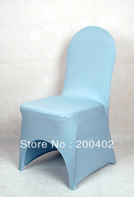 Sales Promotion Free Shipping Light Blue Spandex Chair Coverlycra