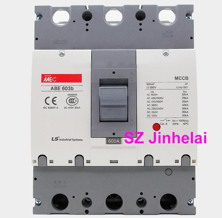 ABE603b Authentic original ABE 603b LS Molded case circuit breaker ABE-603B Air switch 3P 500A/600A cm1 400 3300 mccb 200a 250a 315a 350a 400a molded case circuit breaker cm1 400 moulded case circuit breaker