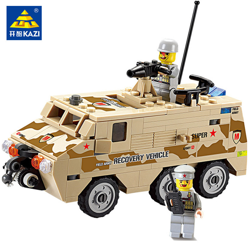 180Pcs DIY Armored Personnel Car Building Blocks Sets Soldiers ARMY Jigsaw Bricks Compatible LegoINGs Military Toys for Children