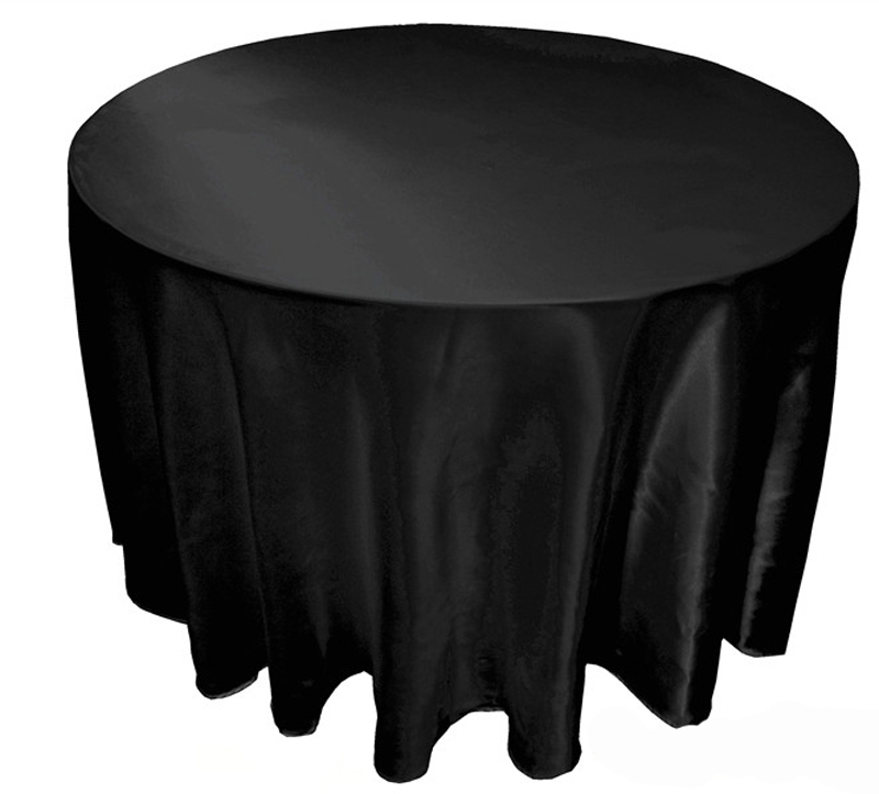 10 pcs lot 90 120 tablecloth table cover white black for 120 round table cover