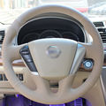 Beige Leather Hand-stitched Car Steering Wheel Cover for Nissan Teana 2008-2012 Murano 2009-2014