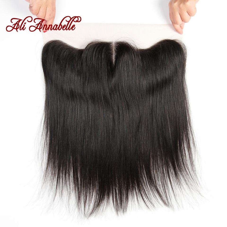 ALI ANNABELLE HAIR Straight Malaysian Hair Lace Frontal Closure 100 Human Hair Closure 13 4 With