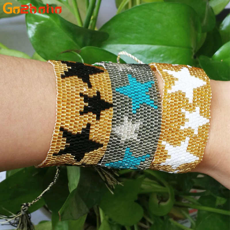 Go2boho Bracelet Men Women Star Woven MIYUKI Seed Beads Jewelry Male Tassel Handmade Bracelets Friendship Gift Pulseiras Homem