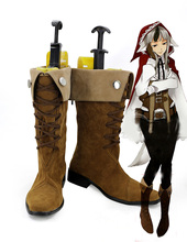 0bd7efaf470 Velua Shoes Cosplay Fire Emblem Awakening Velua Cosplay Boots Brown Shoes  Custom Made Any Size(