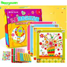 HAPPYXUAN DIY Button Art Craft presentförpackning Barnsäng Handgjord Creative Education Toy Sticker Materialpaket