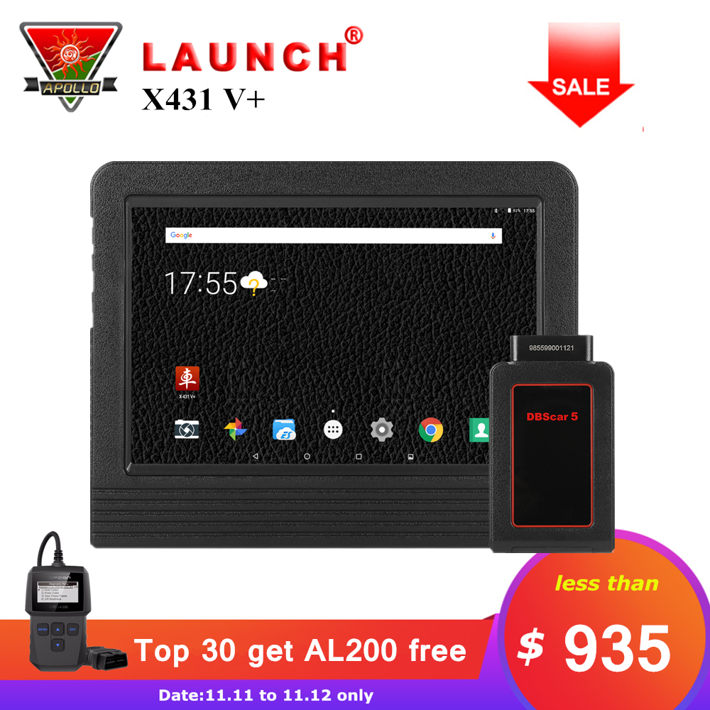 Launch X431 V+ V Plus 10.1 inch Auto Diagnostic Tools Full System OBD2 Bluetooth Wifi Car Scanner 2 Year Free Update X431 Pro3 все цены