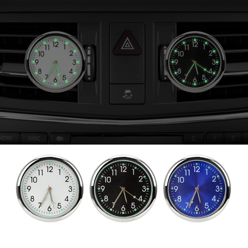 LEEPEE Quartz Clocks Car Clock Luminous Analog Watch Ornaments Air Outlet Decoration Car Electronics