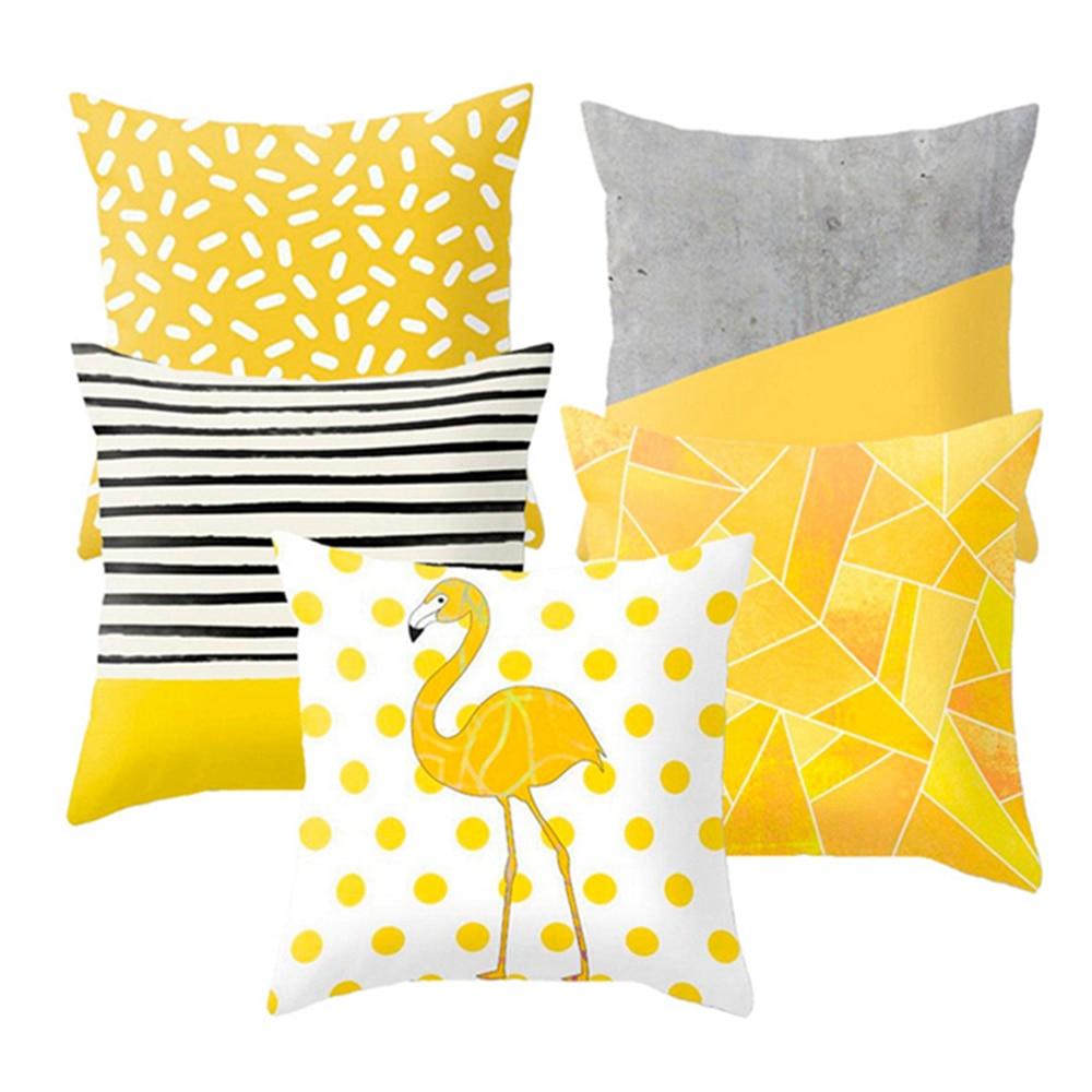 HTB1GmDAXBKw3KVjSZTEq6AuRpXa3 Polyester Geometric Cushion Yellow Pineapple Pillow Decorative Cushion for Sofa DIY Printed Pillow Seat Chair Cushion
