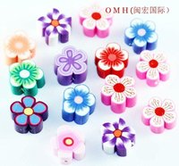 OMH wholesale jewelry 100pcs/Lot  mixed clay flower spacer beads 9.5mm Clay bead  ZL23