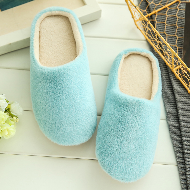 3 Colors New Fashion Soft Sole Autumn Winter Warm Home Cotton Plush Slippers Women Indoor\ Floor Flat Shoes Girls Gift TX002W flat fur women slippers 2017 fashion leisure open toe women indoor slippers fur high quality soft plush lady furry slippers
