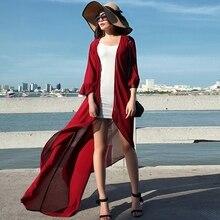 2016ฤดูร้อนแฟชั่นใหม่สีทึบบวกชีฟองขนาดคาร์ดิแกนผิดปกติของผู้หญิงเสื้อถูพื้นหญิงสบายๆทนกว่า