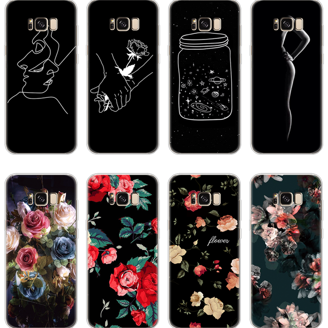 For TPU Fundas Samsung Galaxy J1 mini J2 Pro J4 J5 J6 J7 Duo Max 2015 2016  2017 2018 Prime flower Coque For Samsung J5 2017 Case 4db15755f029