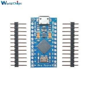 Image 1 - 5PCS USB ATmega32U4 פרו מיקרו 5V 16MHz מודול עבור Arduino ATMega 32U4 בקר פרו מיקרו להחליף פרו מיני עם סיכות