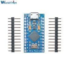 5PCS USB ATmega32U4 Pro Micro 5V 16MHz Module For Arduino ATMega 32U4 Controller Pro Micro Replace Pro Mini With Pins