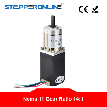 14:1 Planetary Gearbox Nema 11 Stepper Motor 0.67A 4-lead for DIY CNC Robot 3D Printer image