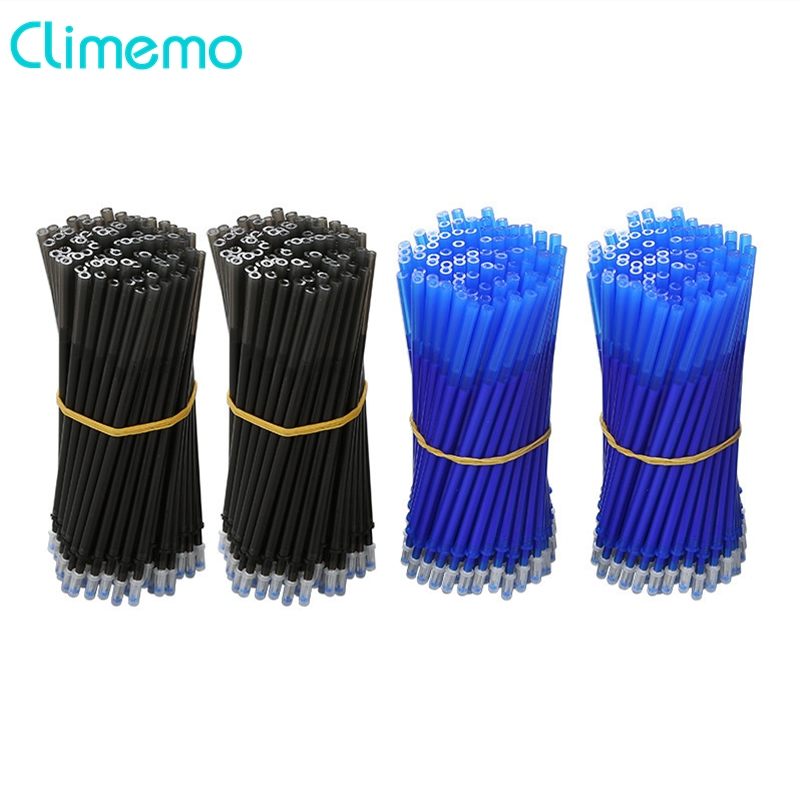 Climemo 20Pcs/lot Gel Pen Rod Office&School Stationery 0.38mm/0.5mm Erasable Pen Refill Black/Blue Magic Ink Writing Tool