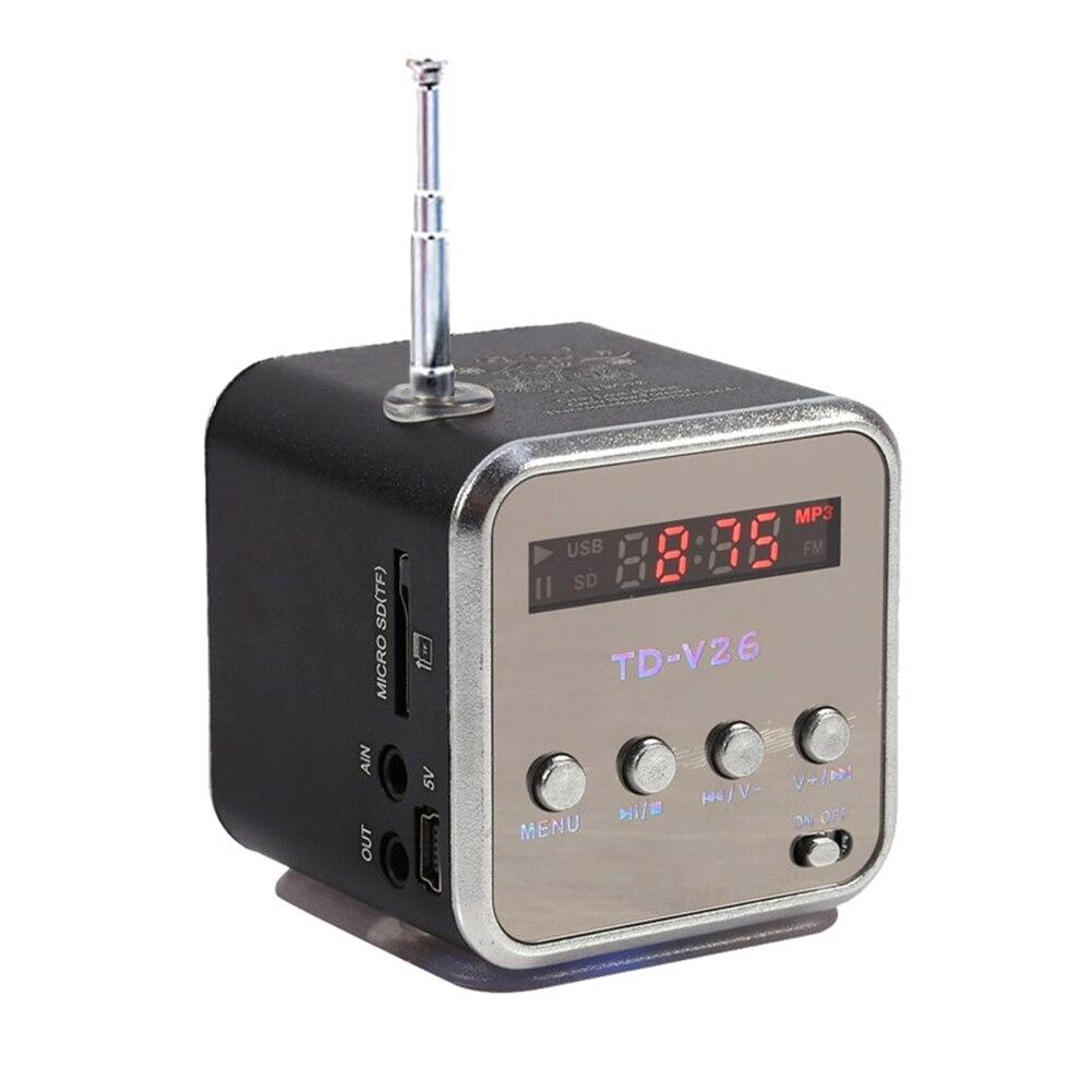 Tragbares Audio & Video Brillant Td-v26 Tragbare Radio Lautsprecher Mit Lcd Display Unterstützung Micro Sd/tf Mp3 Musik Player Digital Fm Kompatibel Für Laptop