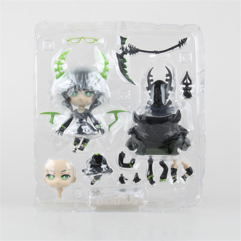 WVW 10CM Anime Black Rock Shooter Death to dominate Model PVC Toy Action Figure Decoration For Collection Gift free shipping cool 10 black rock shooter blade version miku boxed big size pvc action figure collection model toy gift