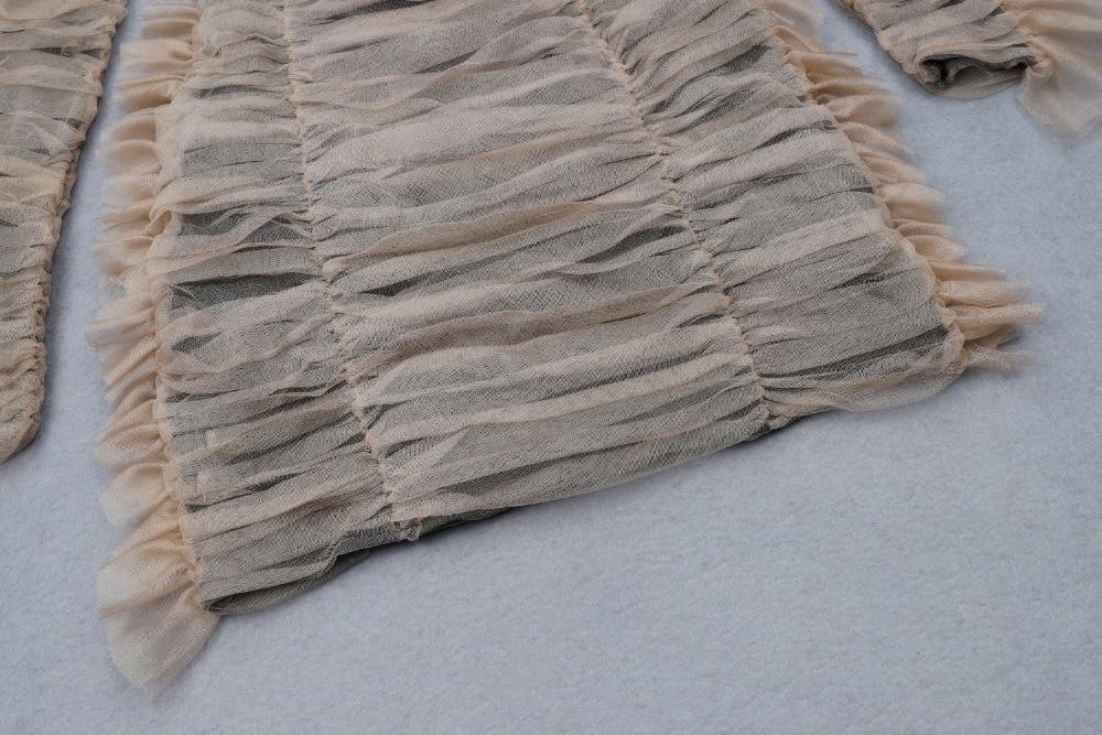 Haute qualité Sexy femmes en mousseline de soie ceintures Mini rayonne Bandage Simple élégant retour robe de soirée - 5