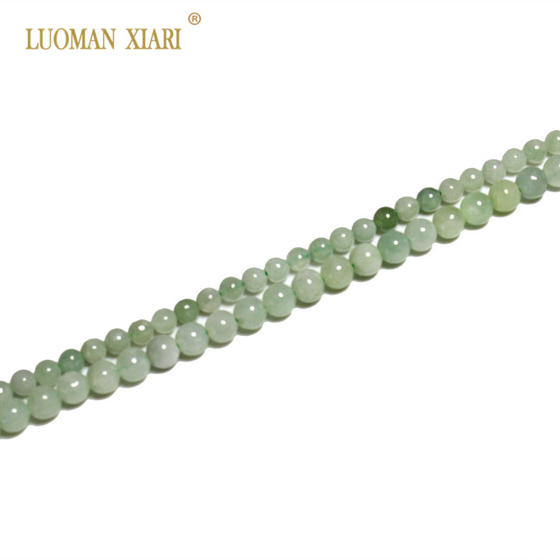 Fine AAA+ 100% Natural Jadeit  Jade Stone Beads Emeral For Jewelry Making DIY Bracelet Necklace 3mm/4 Mm Strand 15''