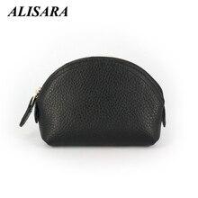 Women's Wallets Brand Genuine Leather Shell Design small Coin Purses Storage Bag Zipper Pocket Key Pouch Money bag Change Purse