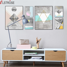 CLSTROSE Abstract Geometric Texture Shape Large Canvas Art Poster Print Wall Picture Painting Modern Nordic Living Room Decor