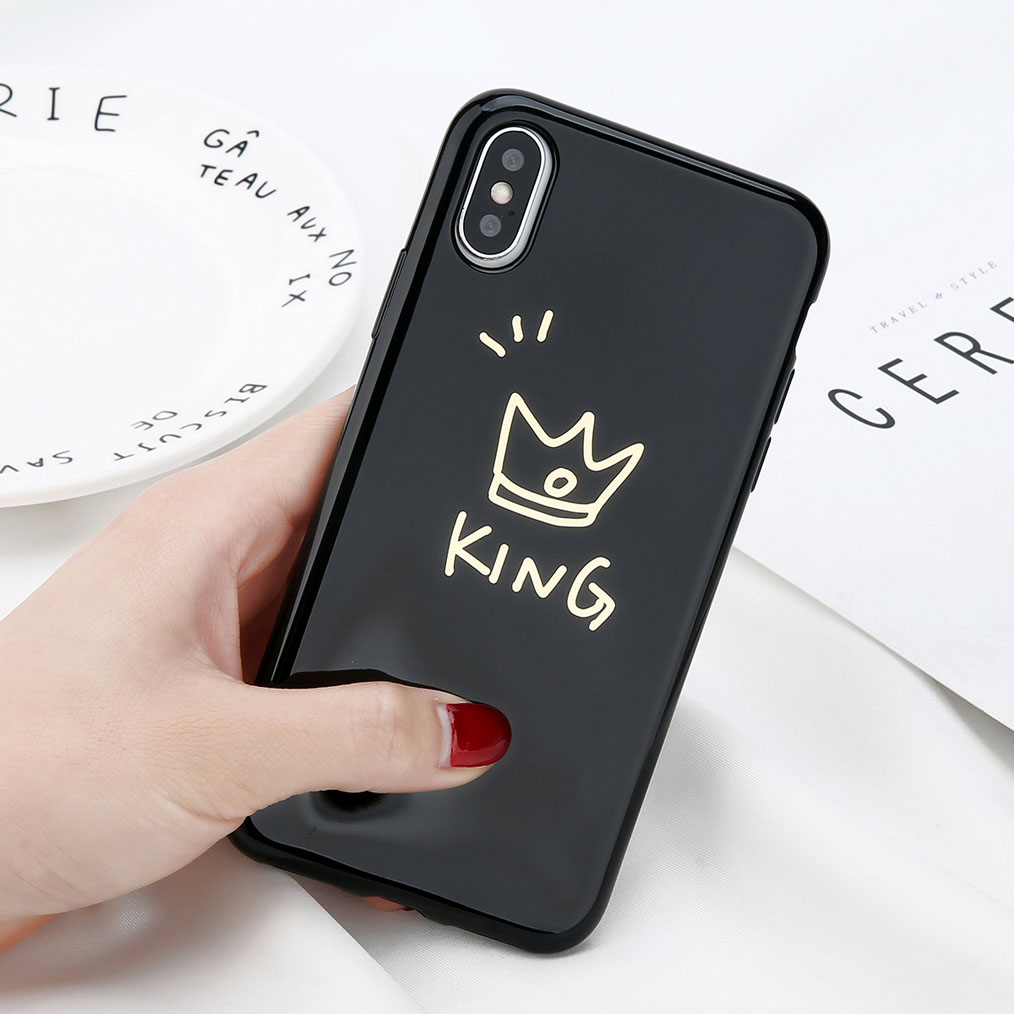 Glossy Crown Phone Case For iPhone 6, 6s Plus, iPhonee X, 8, 7, 6S 1