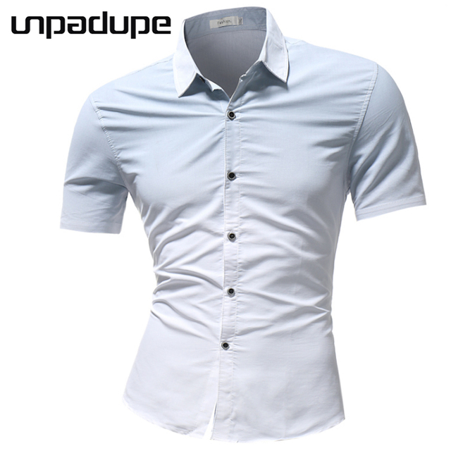 New Arrival New Brand 2018 Men Shirt Gradient Dress Shirt Short Sleeve Slim Fit Camisa Masculina Casual Male Hawaiian Shirts